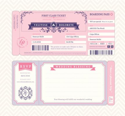 blank wedding card designs - Google Search cards Pinterest - blank ticket