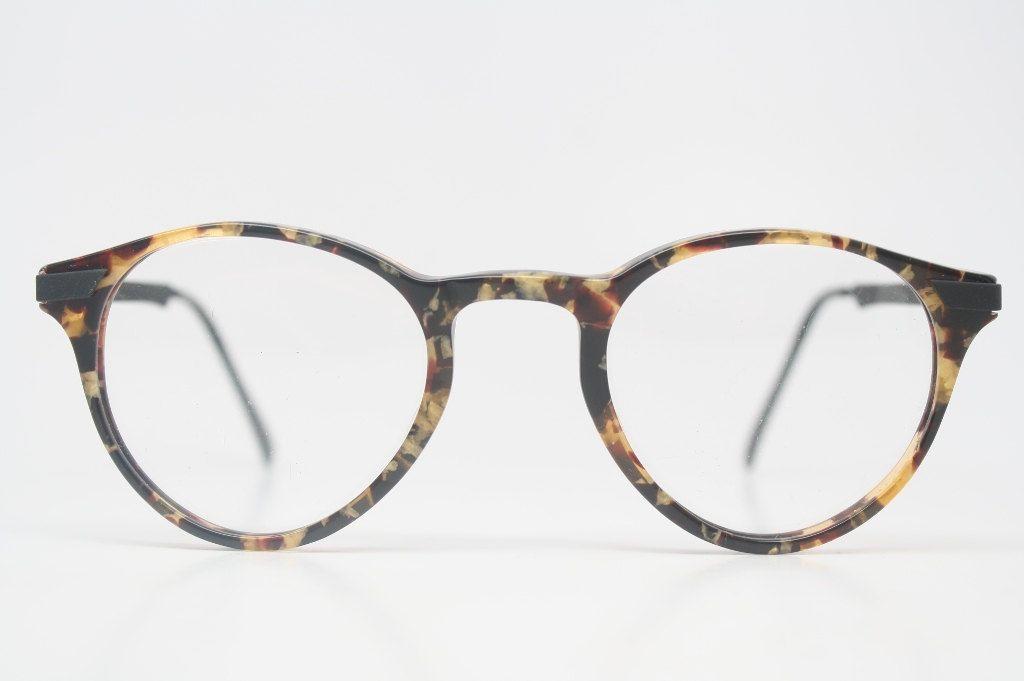 Vintage Glasses Frames Gold & Tortoise Tortoise Retro P3 shaped 1980's vintage eyewear NOS Deadstock Vintage Eyeglasses