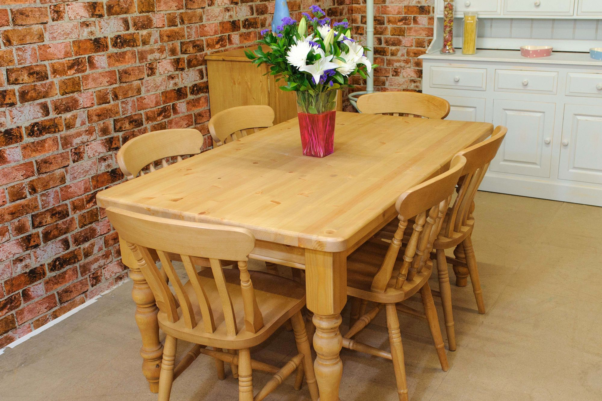 This Tudor pine kitchen or dining farmhouse table comes in various ...