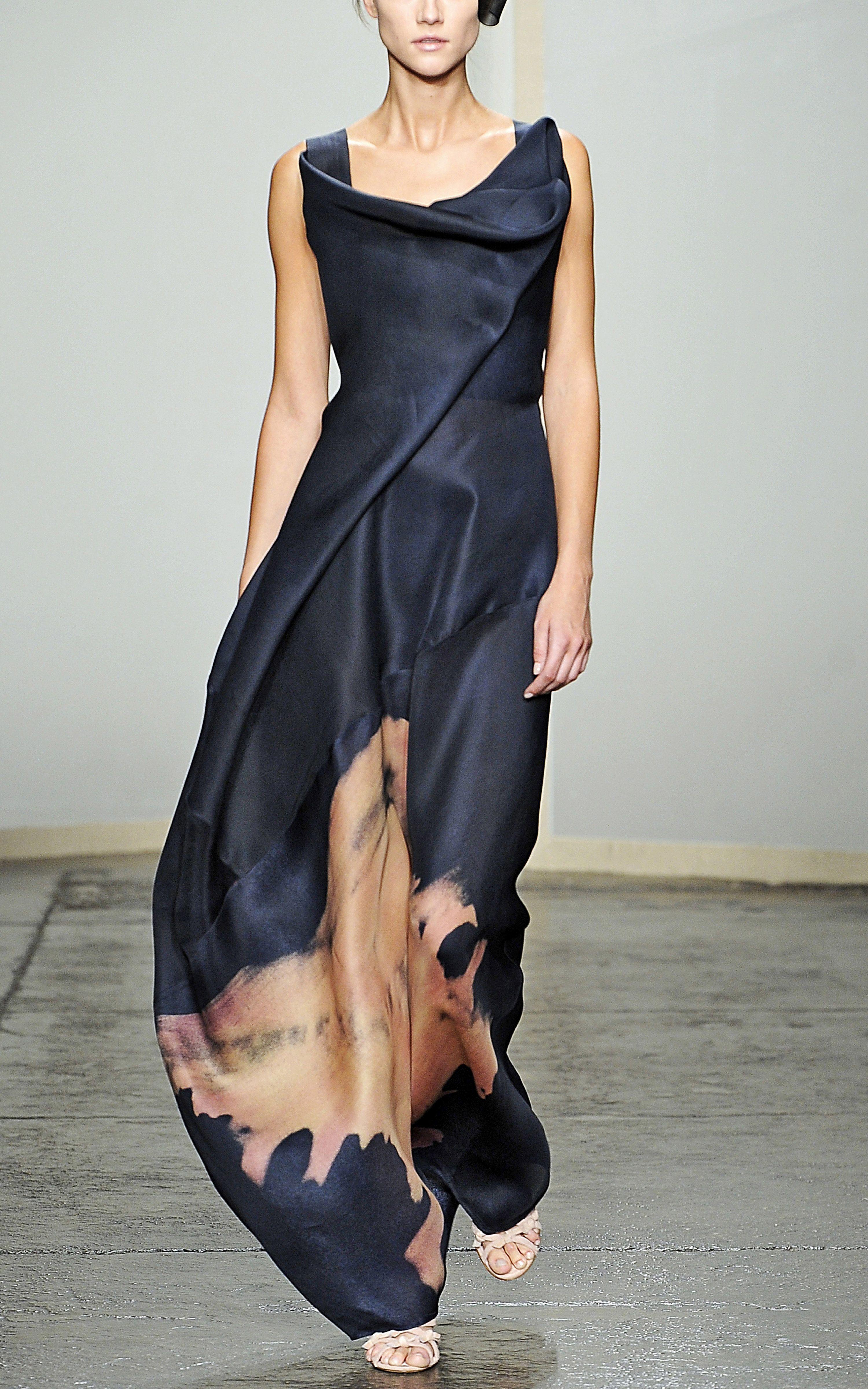 a3423d39c41e Donna Karan New York  Sculpted Neckline Evening Gown