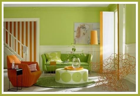 Diy Bedroom Living Room Decorating Ideas For Lime Green Apple Green And Yellow Rooms Living Room Green Modern Green Living Room Living Room Orange