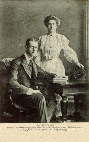 Prinz Andreas von Griechenland und Prinzessin Alice von ...