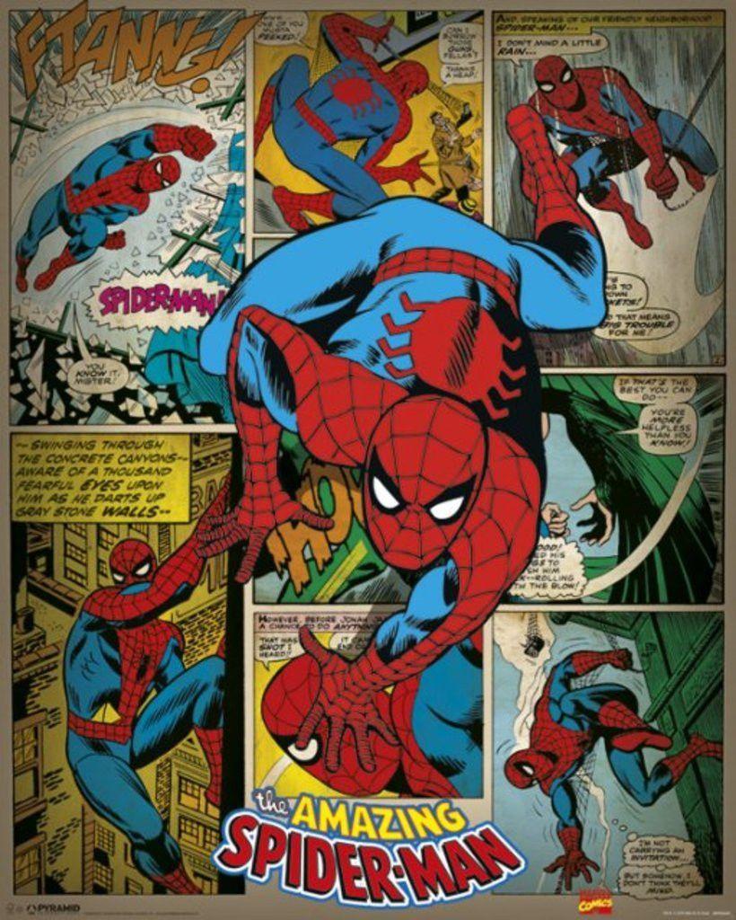 Spider Man Marvel Comics super héros film papier photo poster//Toile Photos