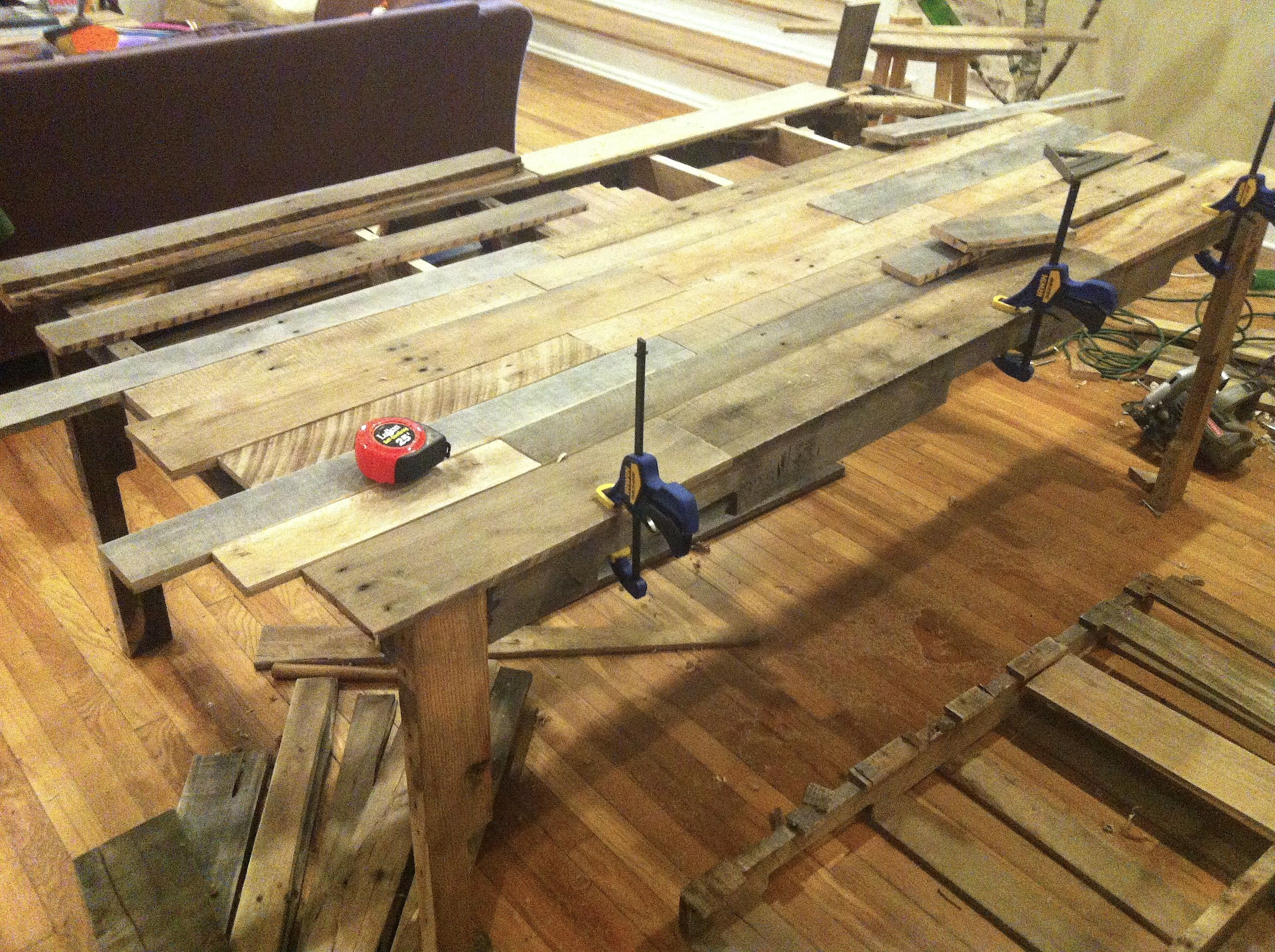 Daniel Made This Dining Table Entirely From Carefully Disassembled Shipping Pallets And Finished It With A