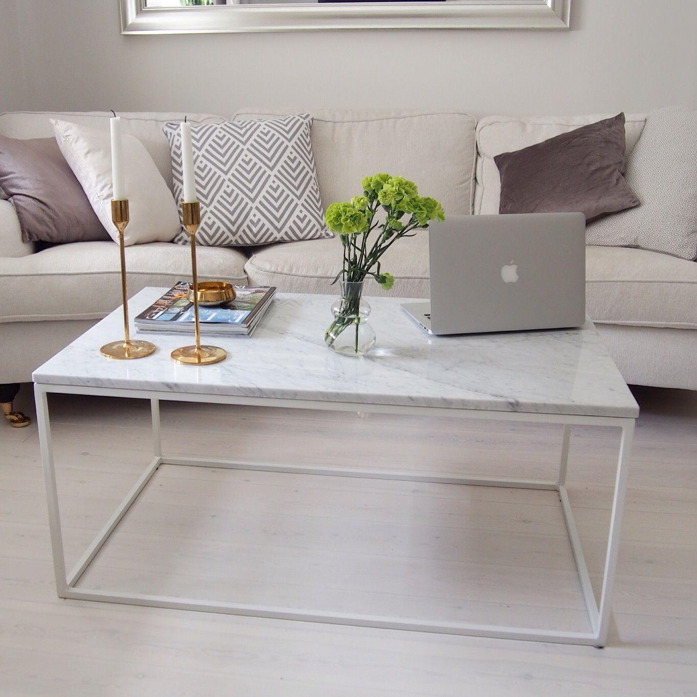 marmor marble bord soffbord white vit carrara brass m ssing hem inredning sisustus stockholm. Black Bedroom Furniture Sets. Home Design Ideas