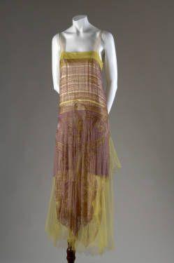 Dress, ca. 1925. Silk net, and glass beads. Callot Soeurs, France.