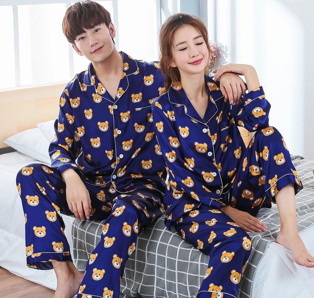 Femmes Coton Pyjama Set Cartoon Costume Filles Pyjama Casual Home Wear Nightwear