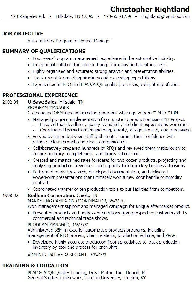 Program Manager Resumes #1201 - http://topresume.info/2015/01/09 ...