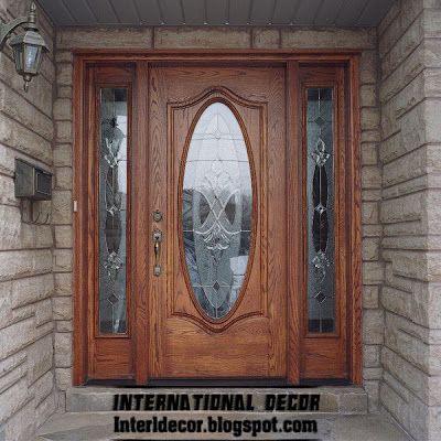 Classic Wood Doors Designs Colors Wood Doors With Glass Sides International Decor Door Design Wood Doors Simple House Design