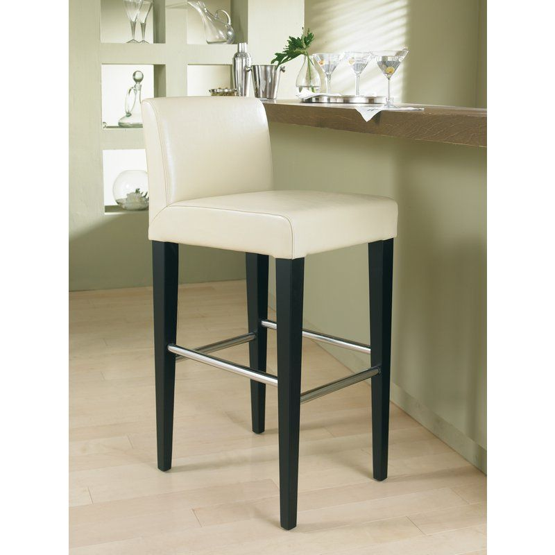 Bar Stool · Sunpan 59823M Oriana Counter Height Stool Cream Leather