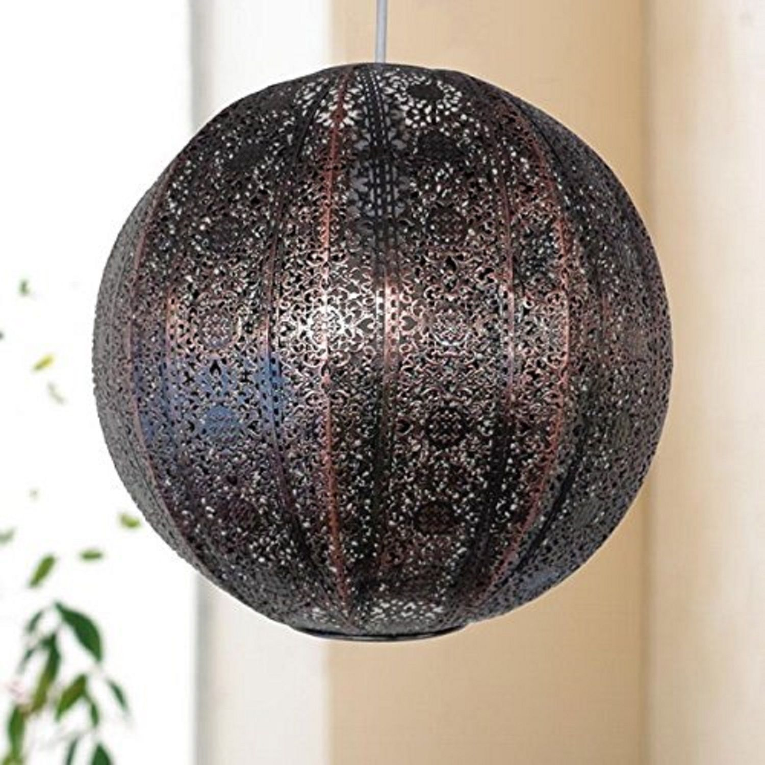 Metal Ball Lamp Shade: Details About Moroccan Style Metal Globe Ceiling Pendant