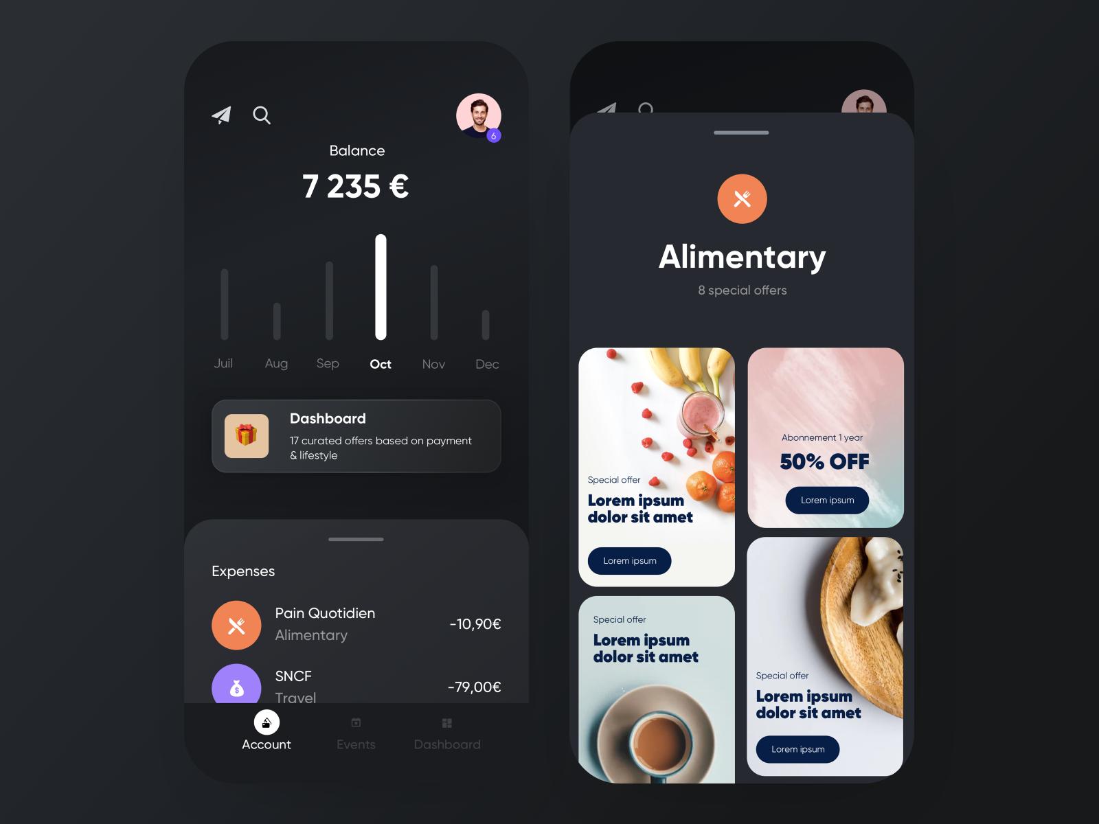 🏄♂️ neobank — lifestyle | user interface design