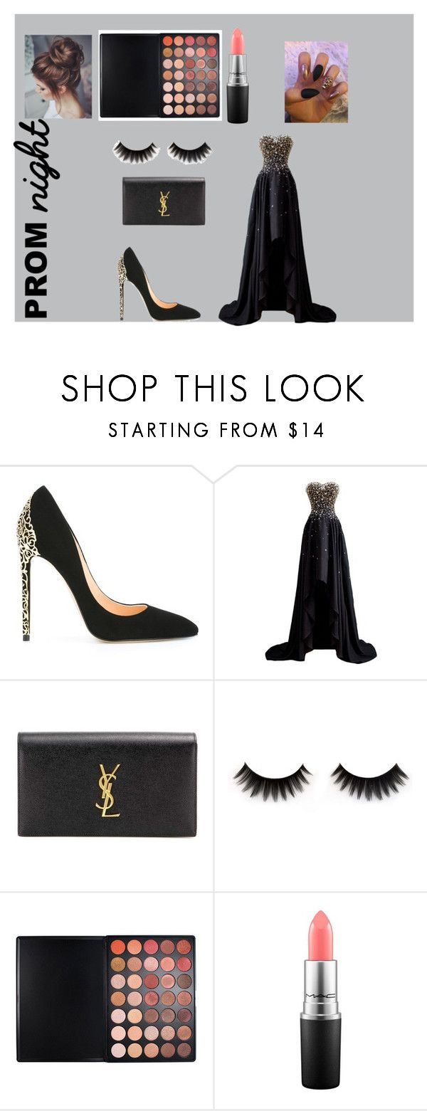 """Prom night 💫💫"" by georjyanne-t ❤ liked on Polyvore featuring Cerasella Milano, Yves Saint Laurent, Morphe and MAC Cosmetics"