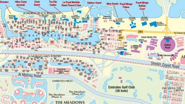 awesome dubai map tourist attractions