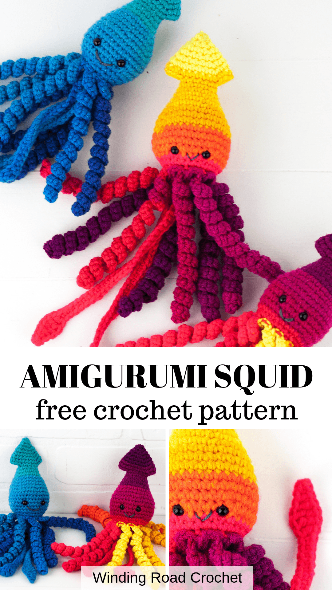 How to Crochet: Preemie Crochet Squid - Winding Road Crochet