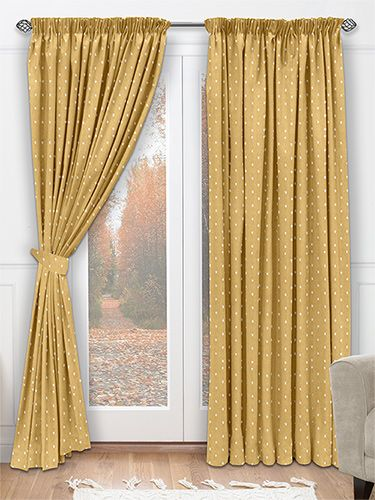 Perfect Coronation Mustard Curtains   In Gorgeous Mustard Yellow With Embroidered  Diamonds In Gilded Cream, This