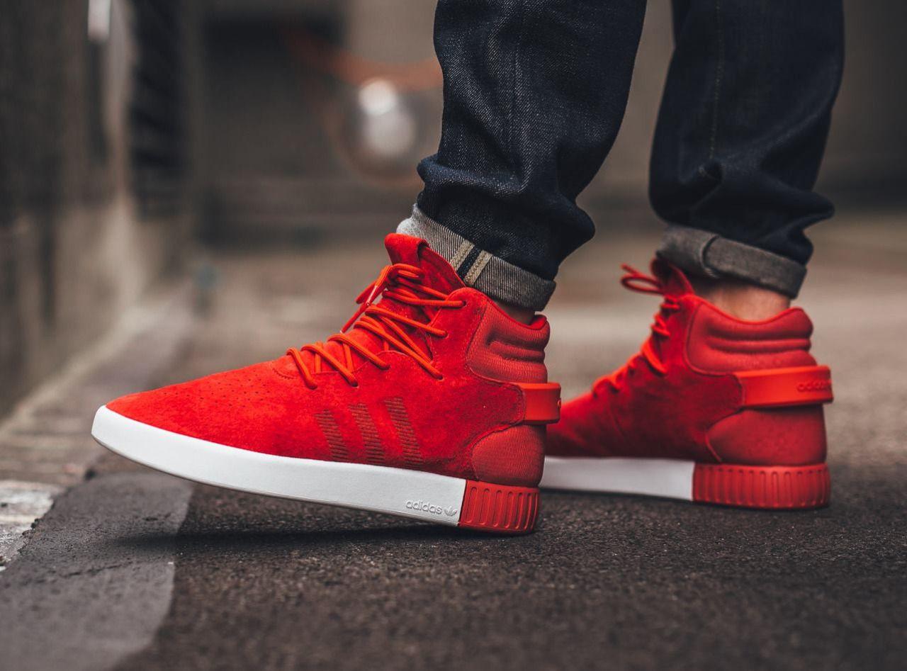 Adidas Tubular Invader On Feet