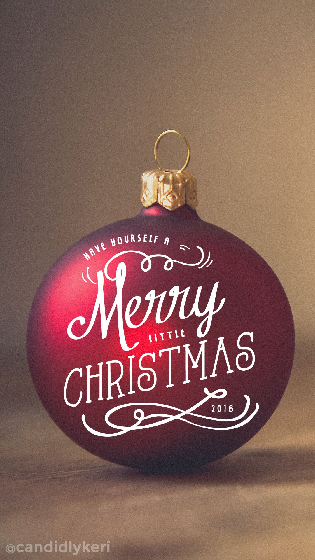 Have Yourself A Merry Little Christmas Red Ornament Background Wallpaper Wallpaper Iphone Christmas Christmas Wallpaper Free Free Christmas Wallpaper Downloads