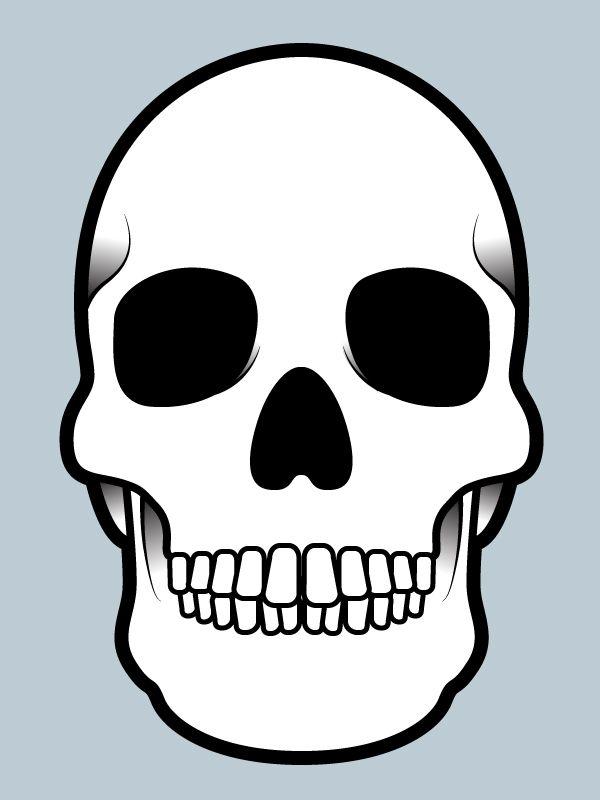 Day of Dead Skull Template Sugar skulls Pinterest Template and