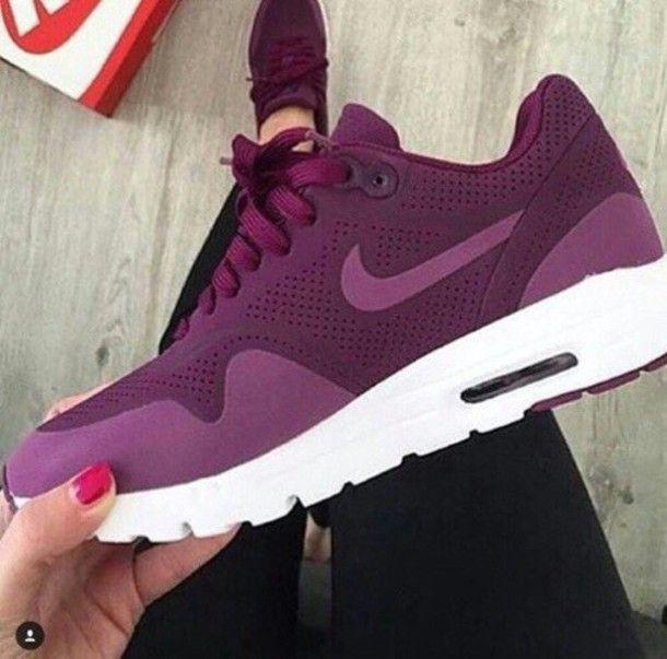 Burgundy Nike Sneakers