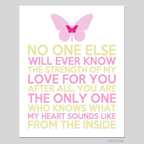 Love Quote Nursery Wall Art Print Butterfly Decor by ofCarola, $15.00