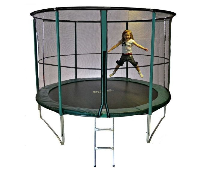 12ft Cortez Premier Trampoline With Enclosure And Ladder 12ft Trampoline Trampolines For Sale Trampoline