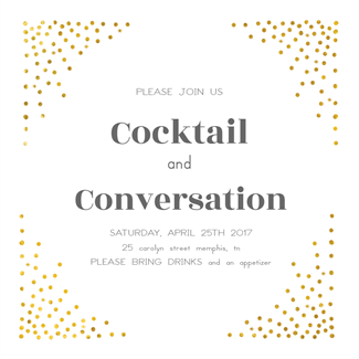 Free Printable Invitation Template  Cocktail Dots  Greetings