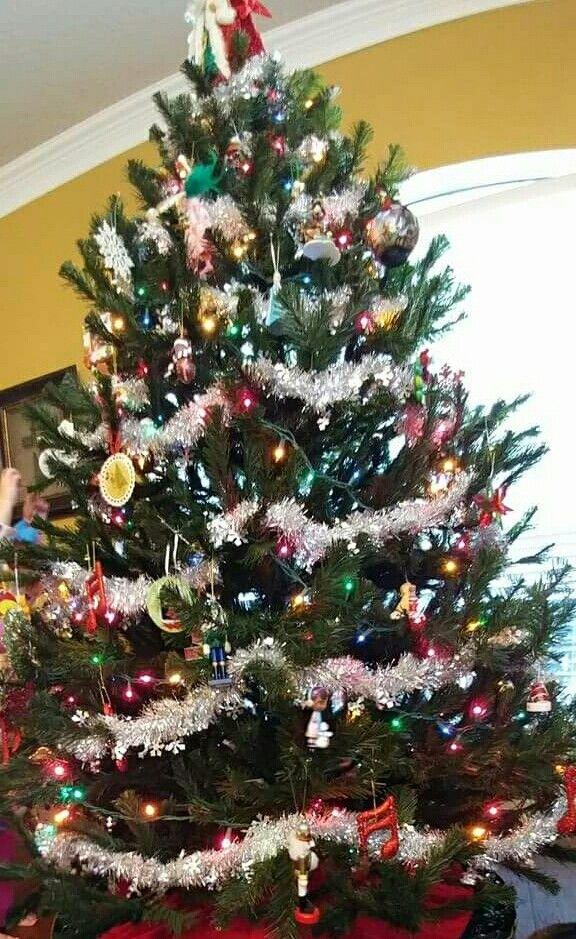 Tinsel Garland And Multi Lights Christmas Tinsel Garland