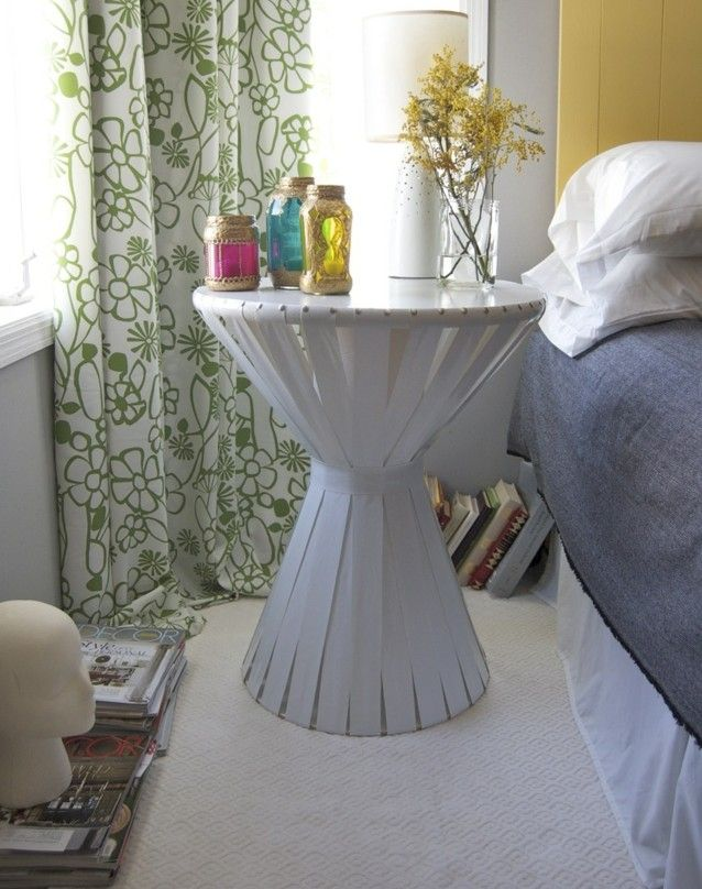 DIY nachttisch deko schlafzimmer weiß selbermachen Basteln mit - dekoration schlafzimmer selber machen