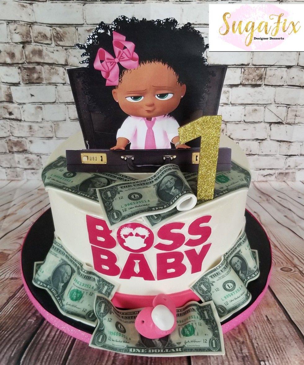 Custom Boss Baby cake with custom topper   SugaFix in 2019 ...