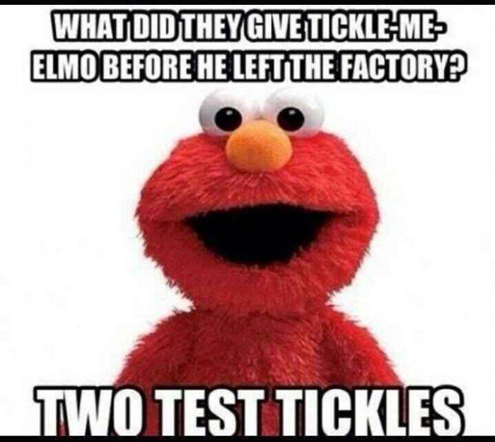 Tickle Me Elmo Meme Elmo Tickled Funny Jokes