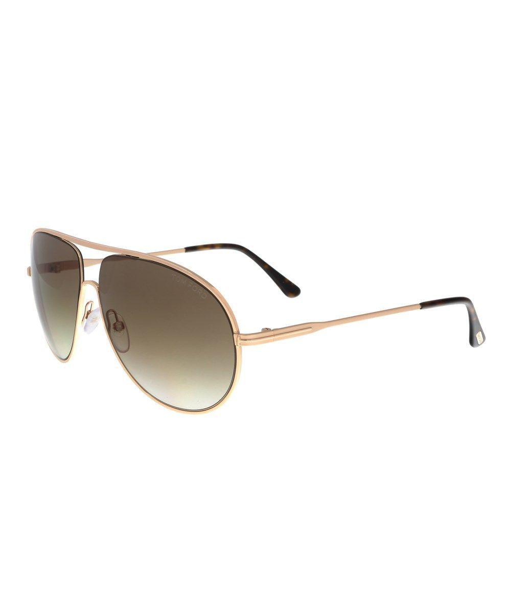 1f68c5ad66 TOM FORD Ft0450 28F Cliff Shiny Gold Aviator Sunglasses .  tomford   sunglasses