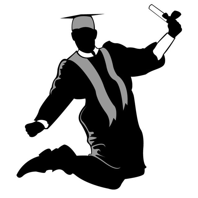 graduate silhouette clip art snapchat geofilters pinterest rh pinterest ie