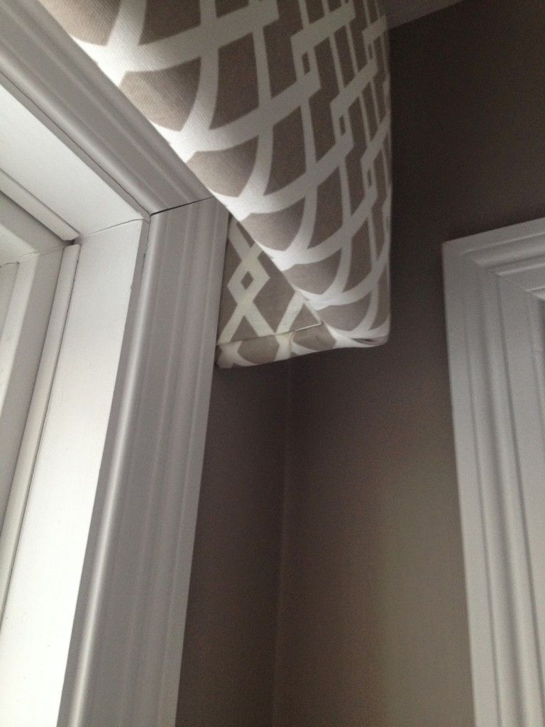 Fabric Covered Cornice Board Amp How To Hang It Window