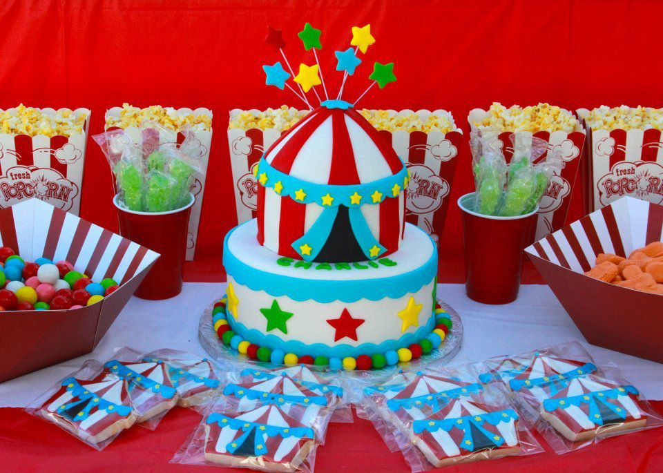 homemade circus birthday cakes Tent Cake Circus Party circus