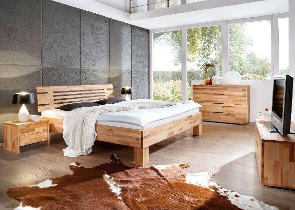 Bett Kernbuche Massiv Schlafzimmer Schlafzimmerideen Einrichtung