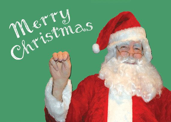 6 - Merry Christmas ASL card, ASL Santa card, moving Santa card ...