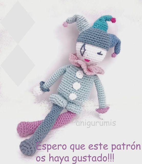 Patrón amigurumi Arlequín | amigurumis | Pinterest | Patrones ...