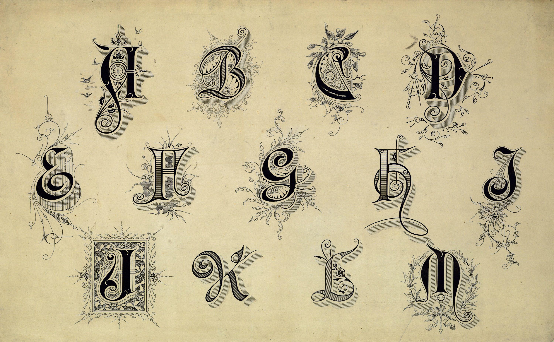Copyright Free Public Domain Vintage Stock Graphics Vintage Typography Fonts Flourishes Text