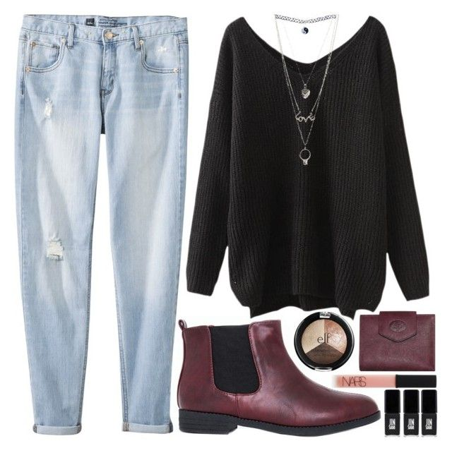 """""""that's mahogany"""" by gemmonkey ❤ liked on Polyvore featuring Buxton, Missguided, Mossimo, Wet Seal, Charlotte Russe, NARS Cosmetics and JINsoon"""