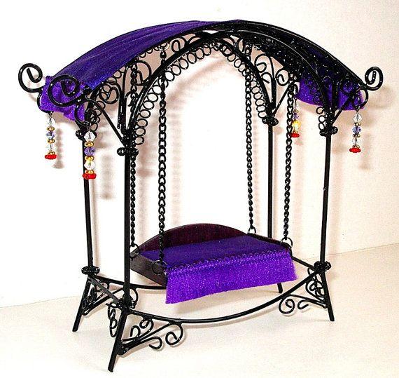 Fairy Garden Swing, Dollhouse Miniature 1/12 Scale | Pinterest ...