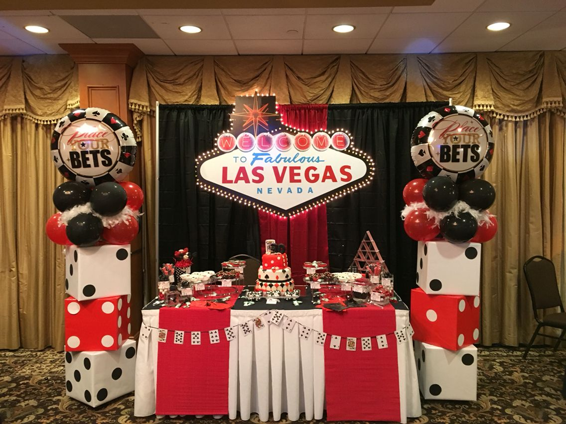 Free Birthday Las Vegas ~ Dessert table bombomcelebrationcreations vegas casino themed