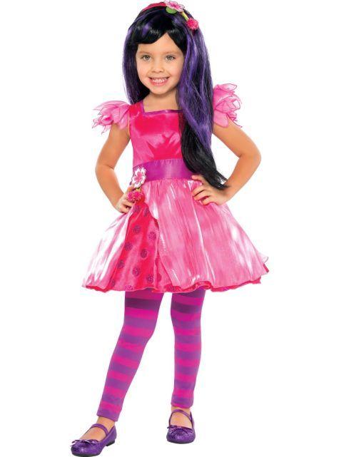 Cherry Jam Strawberry Shortcake Retro Fancy Dress Up Halloween Child Costume
