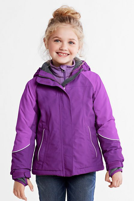 Lands End Girls Squall Waterproof Winter Parka