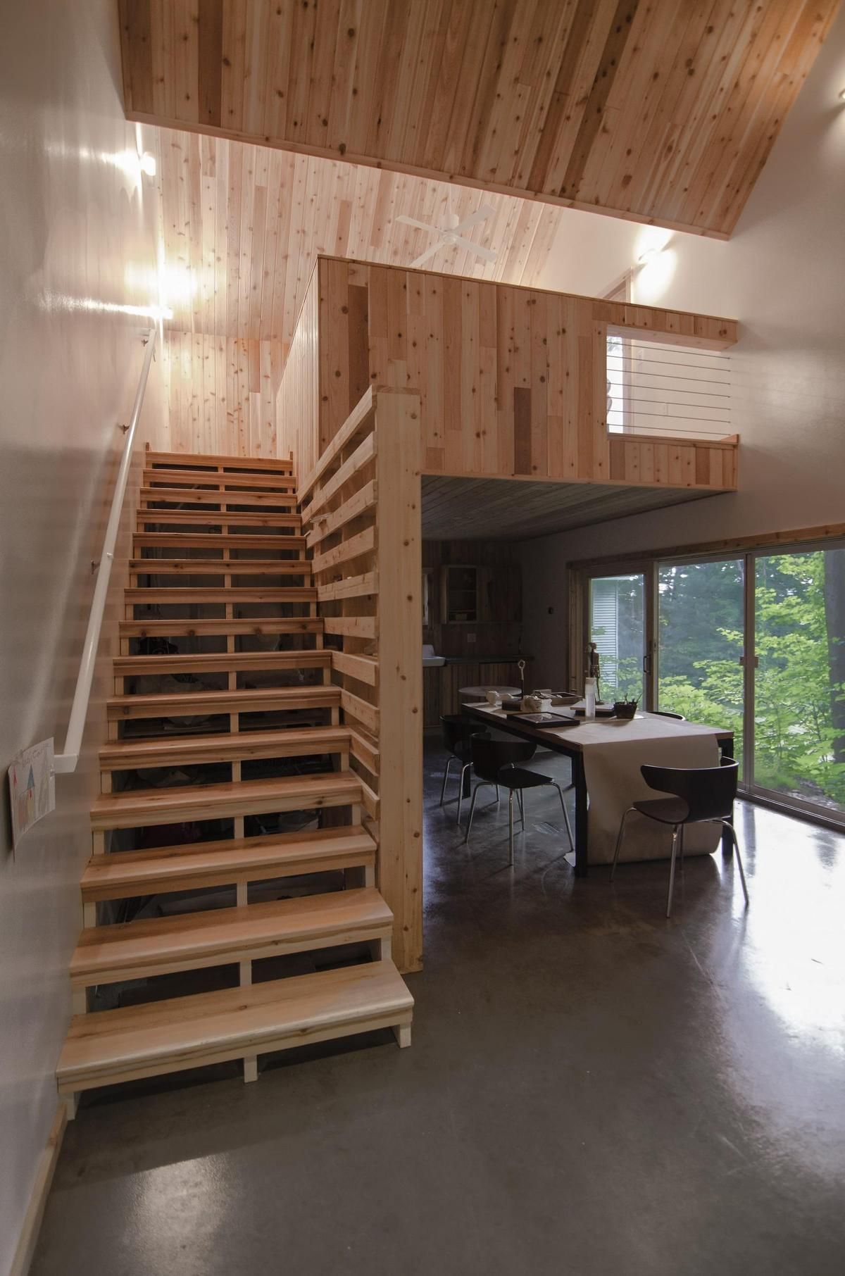 Small Studio House Design With Double Pitched Roof Tiny Guest House House Design Residential House