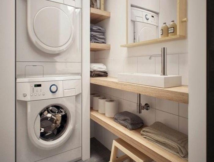 1001 id es comment am nager sa buanderie fonctionnelle colonne de rangement amenagement. Black Bedroom Furniture Sets. Home Design Ideas