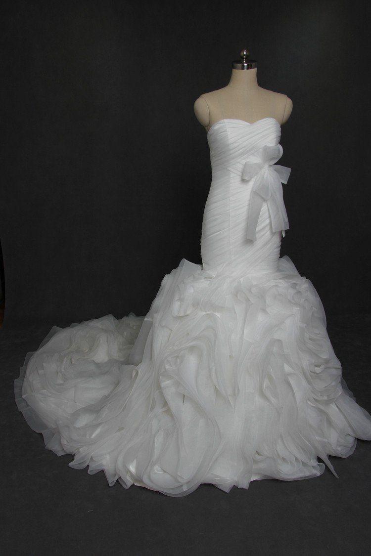 Sweetheart Strapless Organza Mermaid Wedding Dresses Custom Made Wedding Dresses Ch Wedding Dress Organza Affordable Bridesmaid Dresses Perfect Wedding Dress