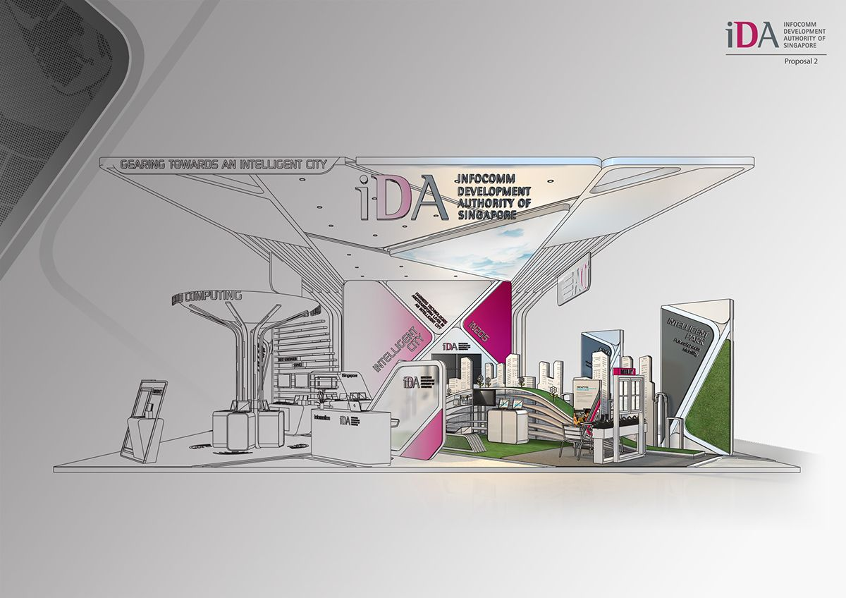 Exhibition Stand Sketch : Exhibition stand d warehouse