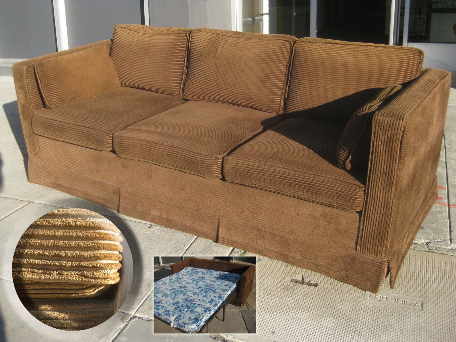 Incredible Awesome 70S Brown Corduroy Sofa Bed We Had One Just Like Creativecarmelina Interior Chair Design Creativecarmelinacom