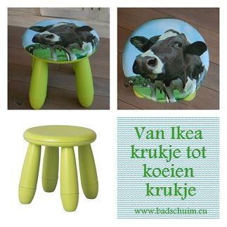 Van Ikea krukje tot Koeien krukje